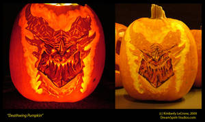 Deathwing Pumpkin Carving by Dreamspirit