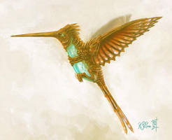 Mechanical Hummingbird Color by Dreamspirit