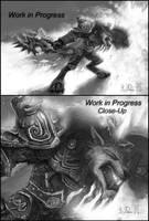 WoW Worgen Prot Warrior WIP by Dreamspirit