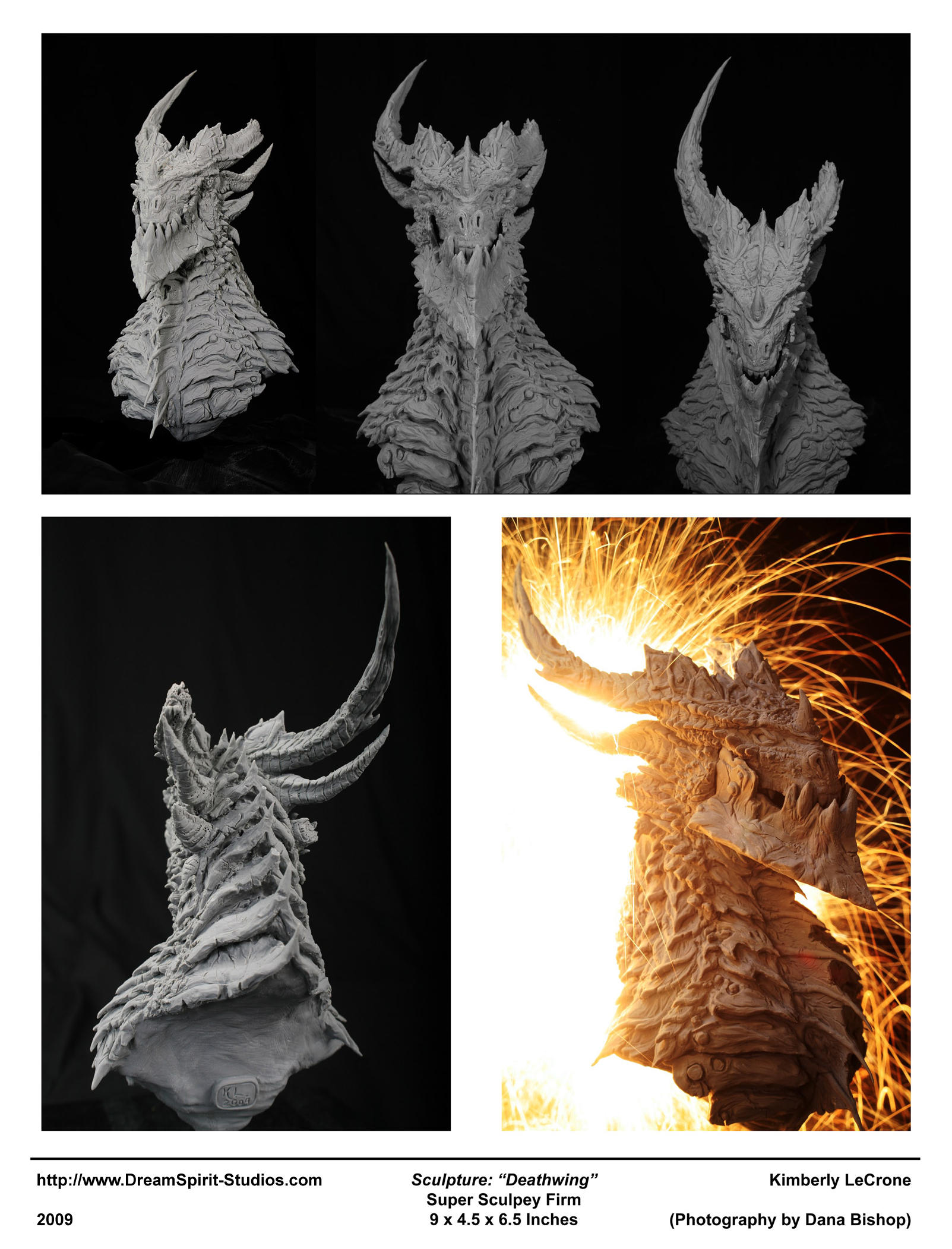 Deathwing Sculpture - 02 by Dreamspirit