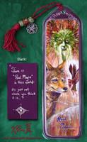 Green Man Coyote Fae Bookmark by Dreamspirit
