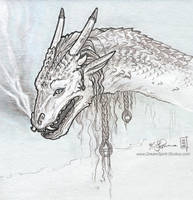 Ornate Dragon Sketch by Dreamspirit