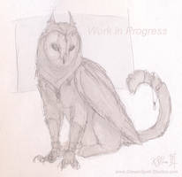 Barn Owl Gryphon WIP - 01 by Dreamspirit