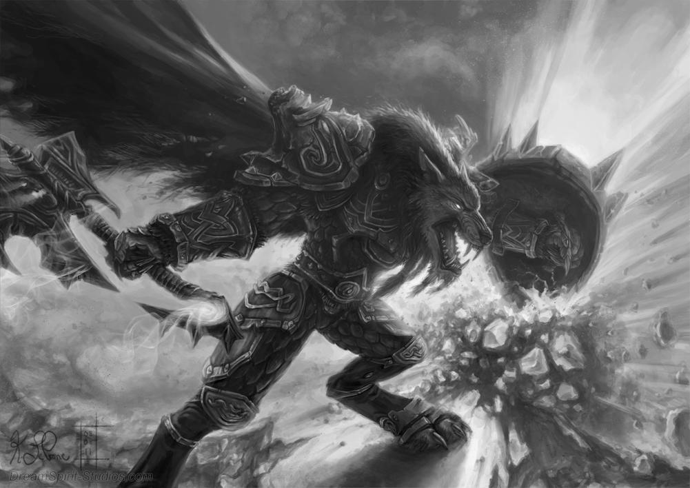 WoW Worgen Prot Warrior Redo by Dreamspirit