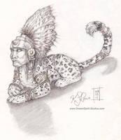 Mayan Sphinx Sketch by Dreamspirit