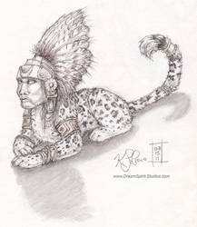 Mayan Sphinx Sketch by Dreamspirit