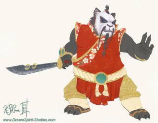 Papercraft Pandaren Monk by Dreamspirit