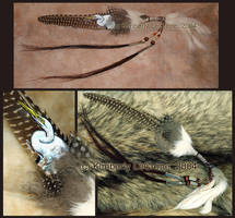 White Egret Prayer Feather by Dreamspirit