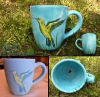 Hummingbird Memory Mug by Dreamspirit