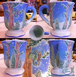 Forest Watchers Mug - Unfired by Dreamspirit