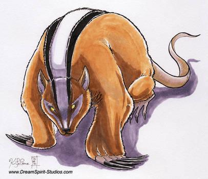 ATLA Fan Art: Menacing Badger Mole by Dreamspirit