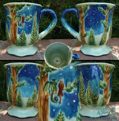 Forest Watchers Mug - Fired by Dreamspirit