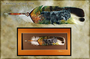 Autumn Wolf Feather Painting by Dreamspirit
