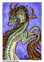 ACEO/ATC - Nature Dragon and Friends by Dreamspirit