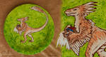 Clever Girl... - Fired Raptor Plate by Dreamspirit