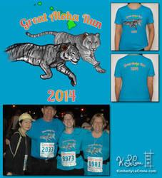 Custom Great Aloha Run 2014 T-Shirt by Dreamspirit