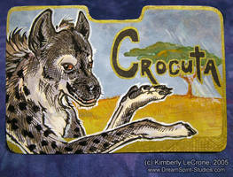 Crocuta Conbadge Commission by Dreamspirit