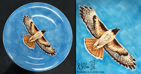 Fly Free - Fired Plate by Dreamspirit
