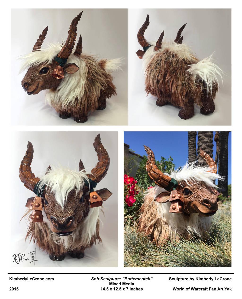'Butterscotch' - World of Warcraft Fan Art Yak by Dreamspirit