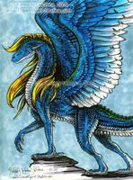 Blue, Feathered Dragon by Dreamspirit
