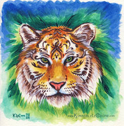 Henna Tigress Painting by Dreamspirit