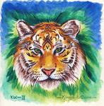 Henna Tigress Painting by Dreamspirit