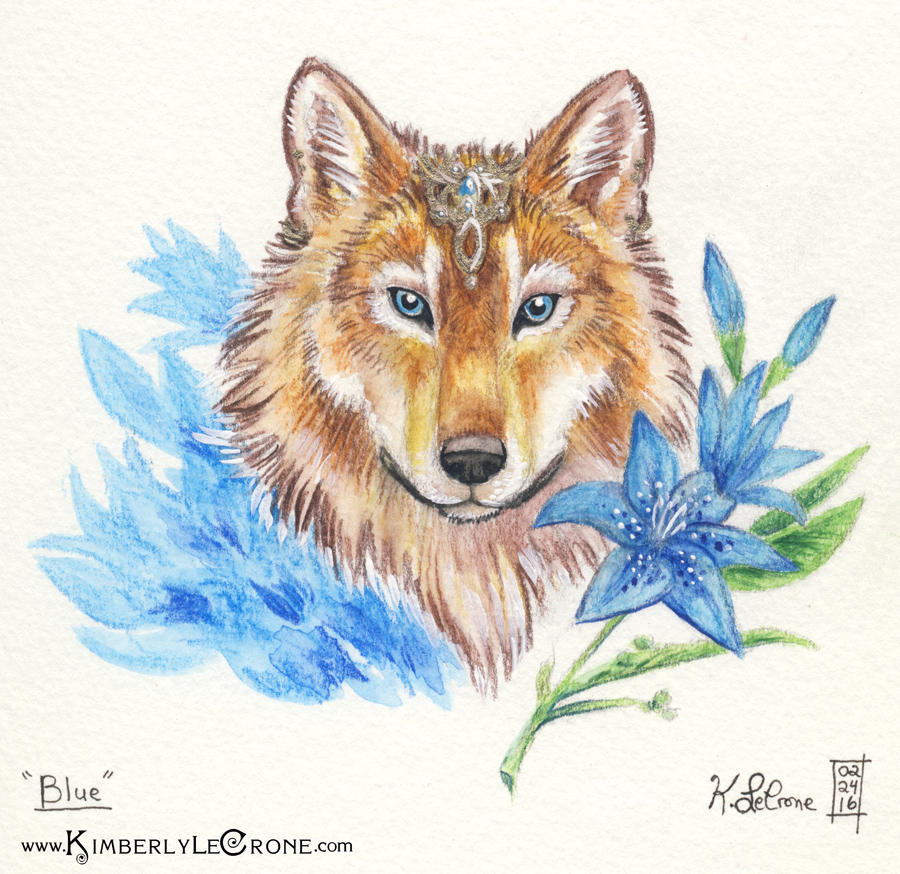 30 Day Story-Sketch Challenge: Day 17: Blue by Dreamspirit