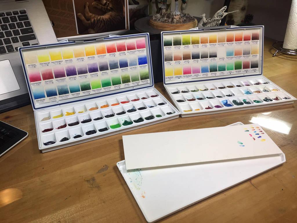 Watercolor Color Charts by Dreamspirit