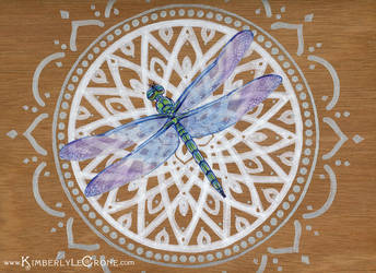 Dragonfly Mandala by Dreamspirit