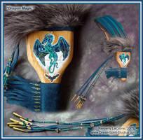 Dragon Magic Three Feather Fan by Dreamspirit