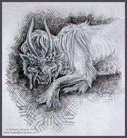 Oriental Dragon Beast Sketch by Dreamspirit