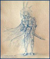 Sketch:RichardInLionArmor FULL by Dreamspirit