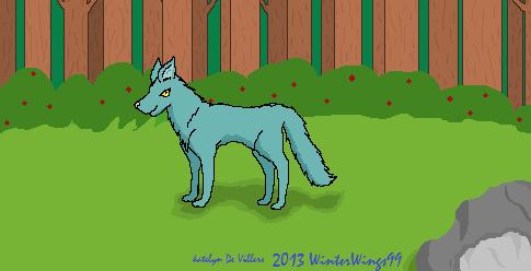 Blue Wolf's Stroll by WinterWings99