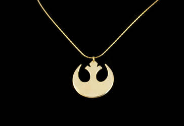 Star Wars Rebel Insignia Necklace by obsidiandevil