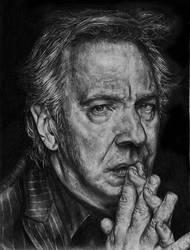 Alan Rickman Portrait by Blacleria