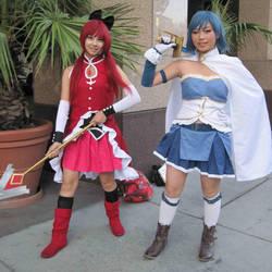 Kyoko and Sayaka by TheSapphireDragon1