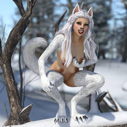 Playful Wolf Girl (Transformania Pet Form) by Martiandawn