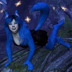 Wild Blue Wolf Girl (Transformania Player Form) by Martiandawn