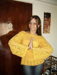 Kimono crochet sweater by argentinian-queen