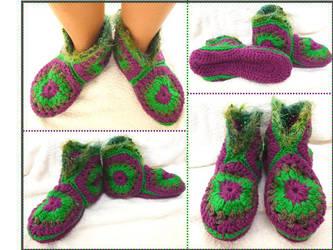 Hexagonal slippers by argentinian-queen