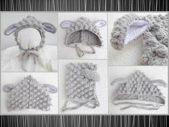 Grey lamb bonnet by argentinian-queen