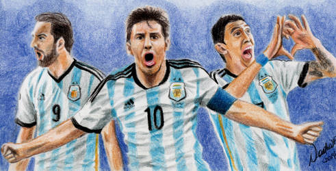 World Cup 2014 Vamos Argentina! by argentinian-queen