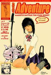 Makoto Battles The Pink Robot by ch-peralta