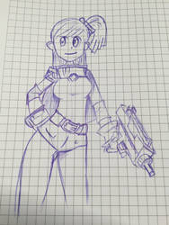 Girl with a gun by badroid