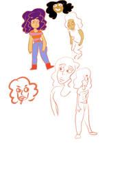 doodles of self by rockogirl