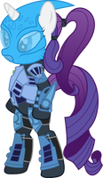 Rarity as Toa Nokama by ShadyHorseman