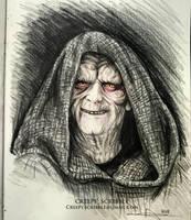 Palpatine Drawing by CreepyScribble