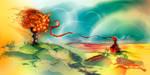 Orange tree and peasant girl by Uzi-Muzi