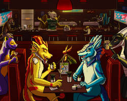Drinking The Bar Dry by Pheagle-Adler