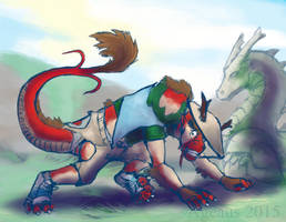 Touristing Dragon - 2/3 by Pheagle-Adler